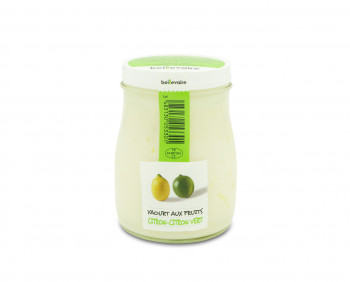 Yaourt aux fruits - Citron & Citron vert - Beillevaire