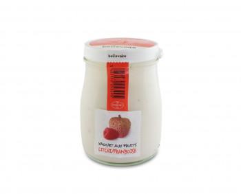 Yaourt aux fruits - Litchi & Framboise - Beillevaire
