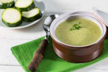 Soupe Courgette persil & Pois cassés Atelier Popote