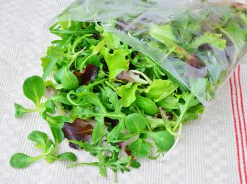 Sachet de salade préparé